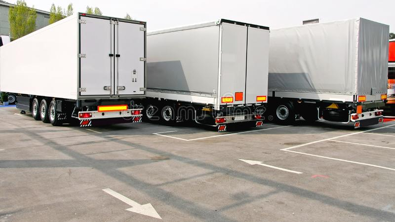 Truck Parking stock photos