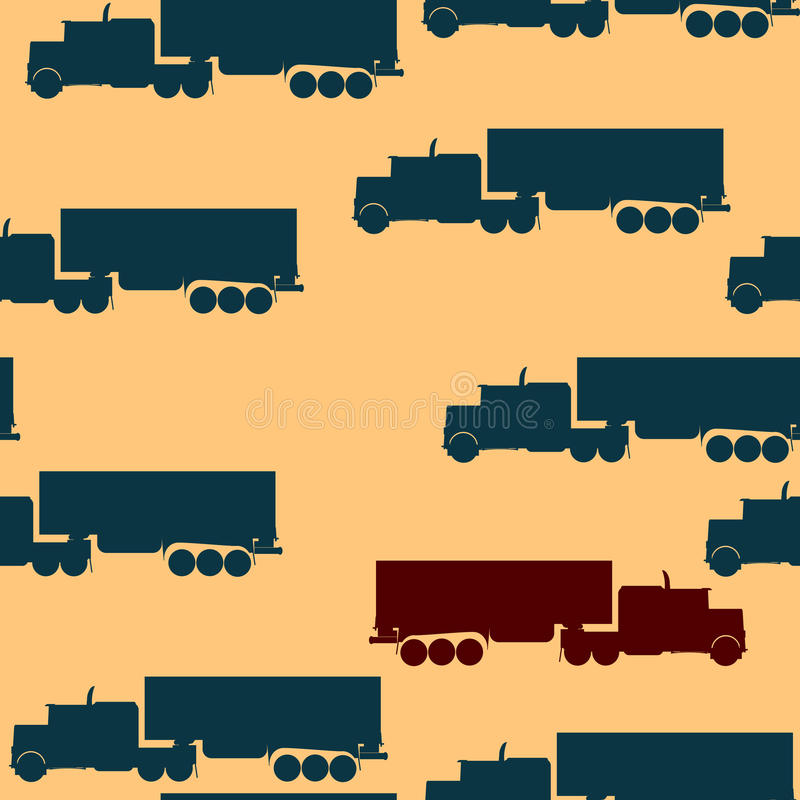 Download Truck pattern stock vector. Image of pattern, container - 14421855