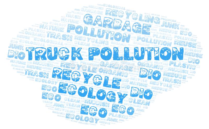 Truck Pollution word cloud. Wordcloud made with text only stock photography