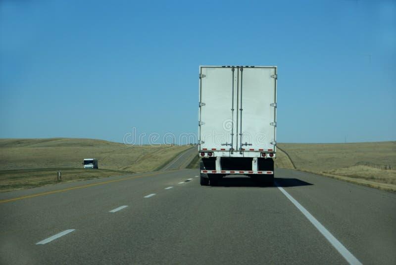 Truck on prairie stock photo