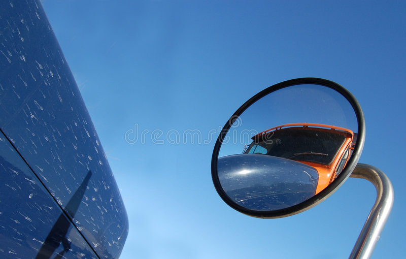 Download Truck Reflection stock image. Image of vision, blue, safety - 4337615