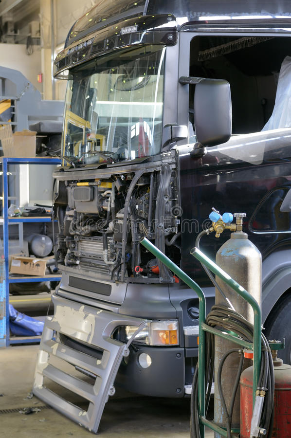 Download Truck repair. stock image. Image of control, occupation - 12935669