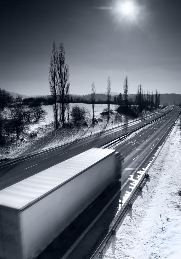 Download Truck on the road stock image. Image of road, flare, business - 12965439
