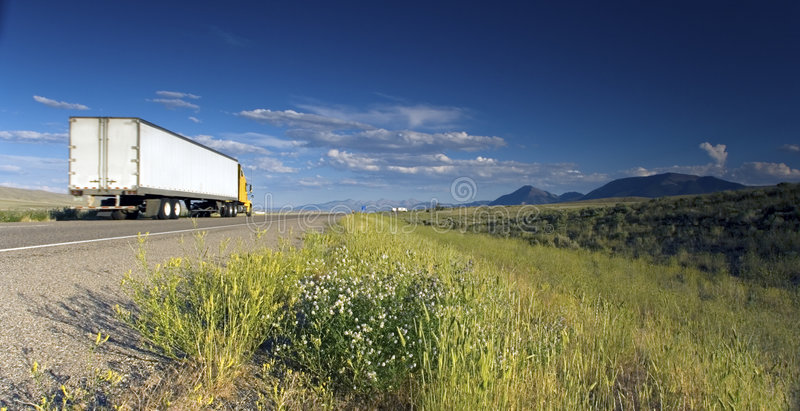 Truck on the road royalty free stock images