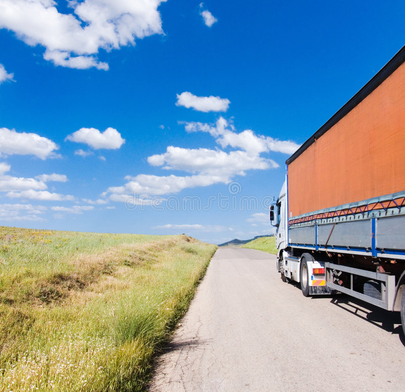 Download Truck On The Road Royalty Free Stock Photos - Image: 5050728