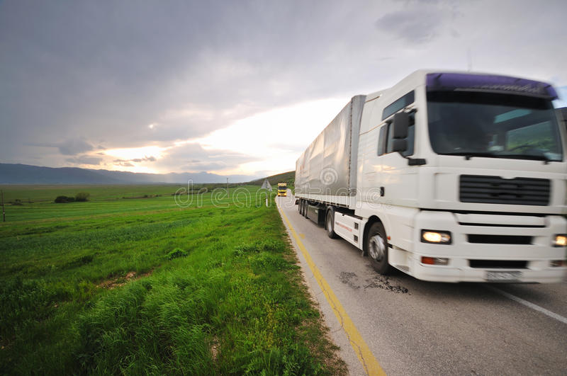 Download Truck road stock image. Image of freeway, logistic, busy - 9871095