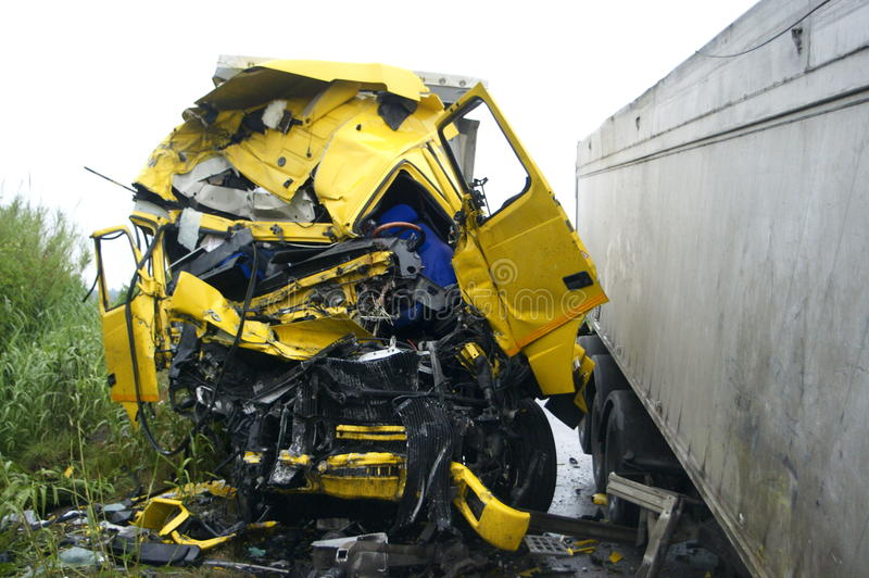 Truck of road, accident royalty free stock photos