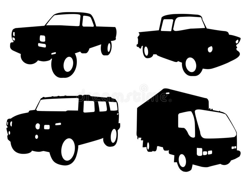 Download Truck silhouettes stock vector. Illustration of drive - 14027611