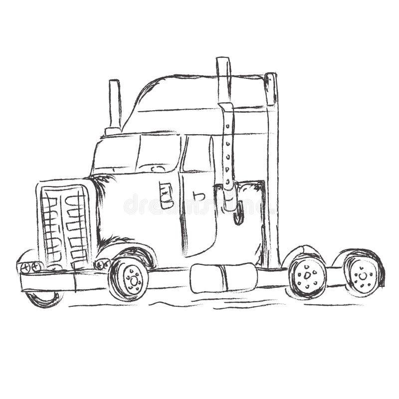 Truck, Sketch, Hand, Drawings, Vector, Illustration Stock Vector ...