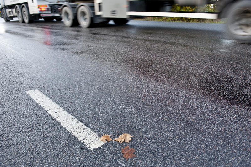 Download Truck on slippery road stock image. Image of lonely, black - 27178813