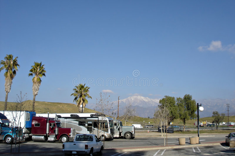 Download Truck Stop stock photo. Image of white, interstate, california - 5356588