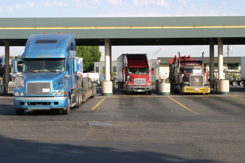 Download Truck Stop Fueling stock image. Image of freight, driver - 803641