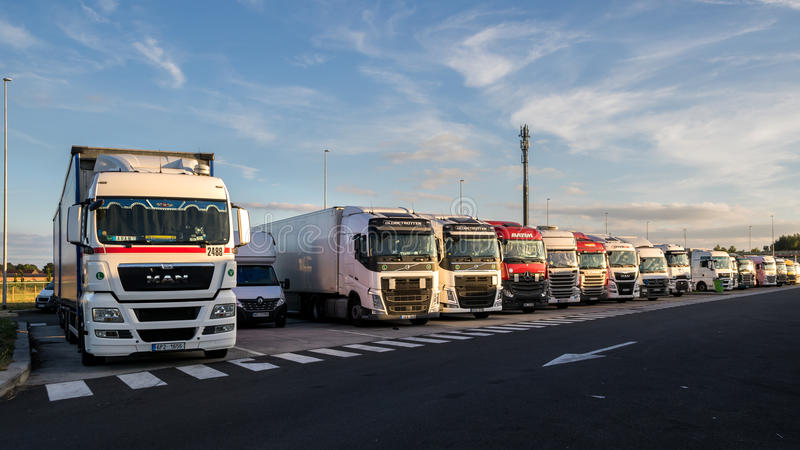 Truck stop parking royalty free stock images