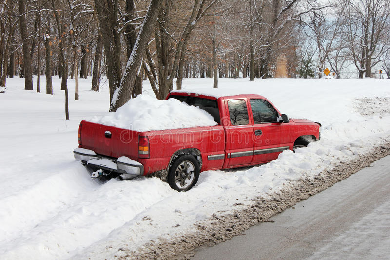 Download Truck Stuck In Snowbank Or Ditch Stock Images - Image: 28834734