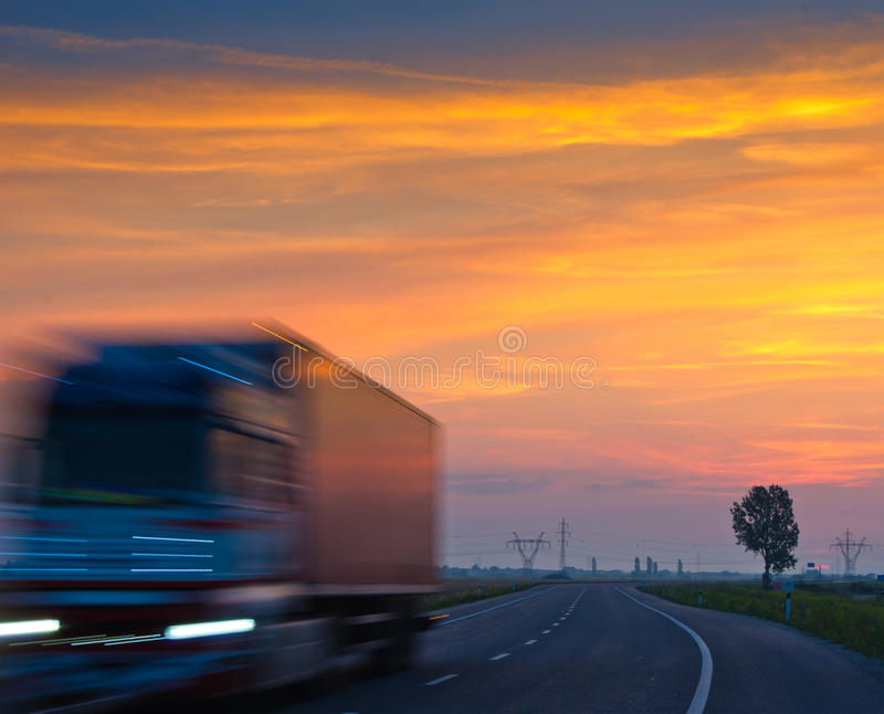 Download Truck at sunrise stock photo. Image of vehicle, dramatic - 22133426