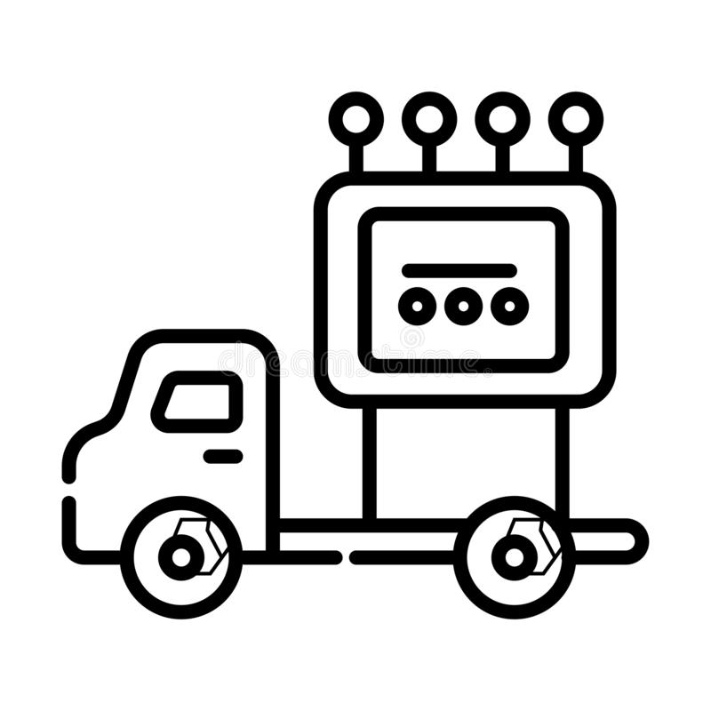 Truck symbol icon vector stock illustration