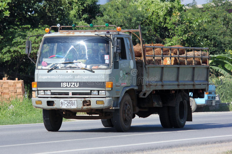 Truck of Thailand Forest Industry Organization. CHIANGMAI, THAILAND - NOVEMBER 13 2014: Truck of Thailand Forest Industry Organization. Photo at road no 121 stock photography