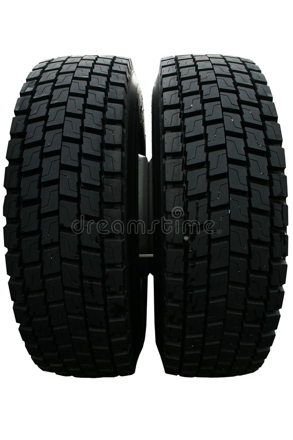 Truck tires stock image