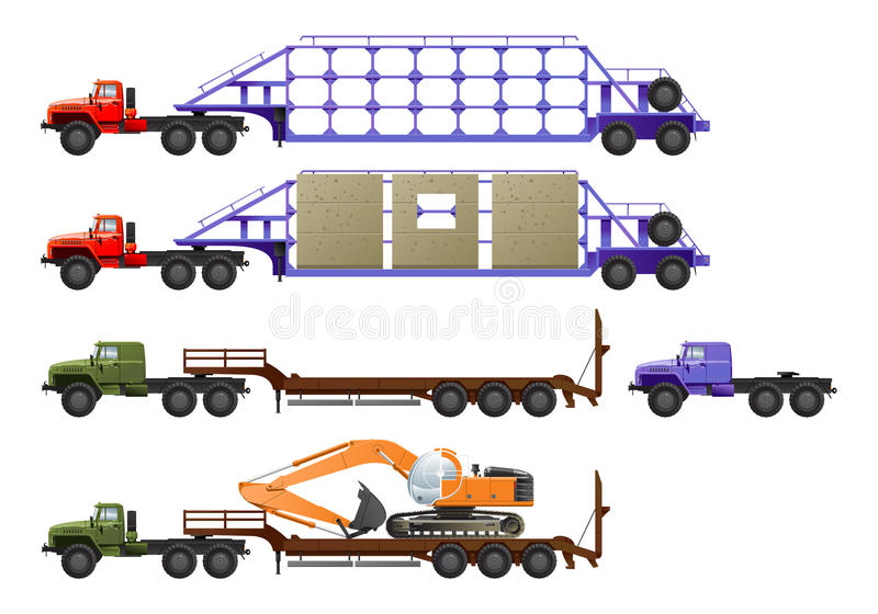 Download Truck tractor stock vector. Illustration of horse, mover - 17353046