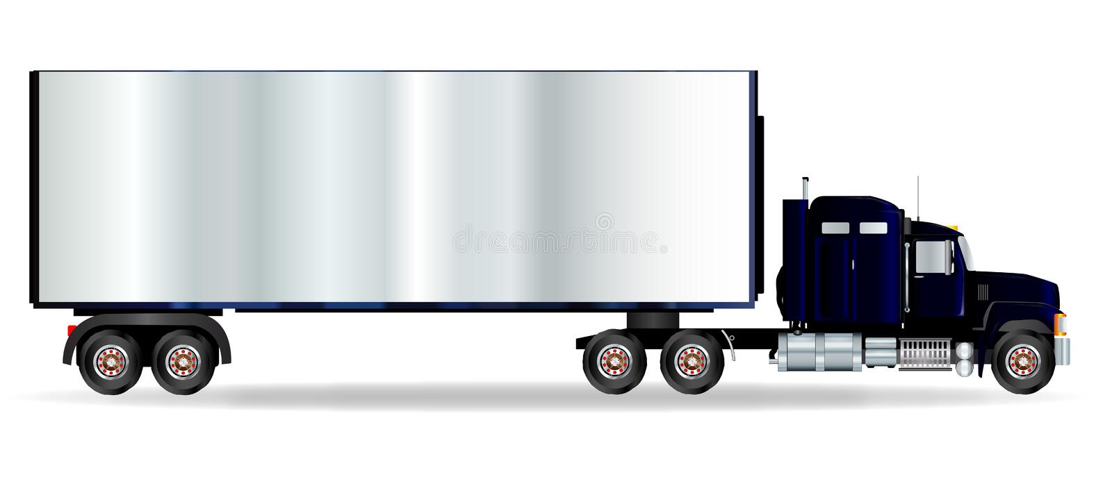 Truck Tractor Unit And Trailer stock illustration
