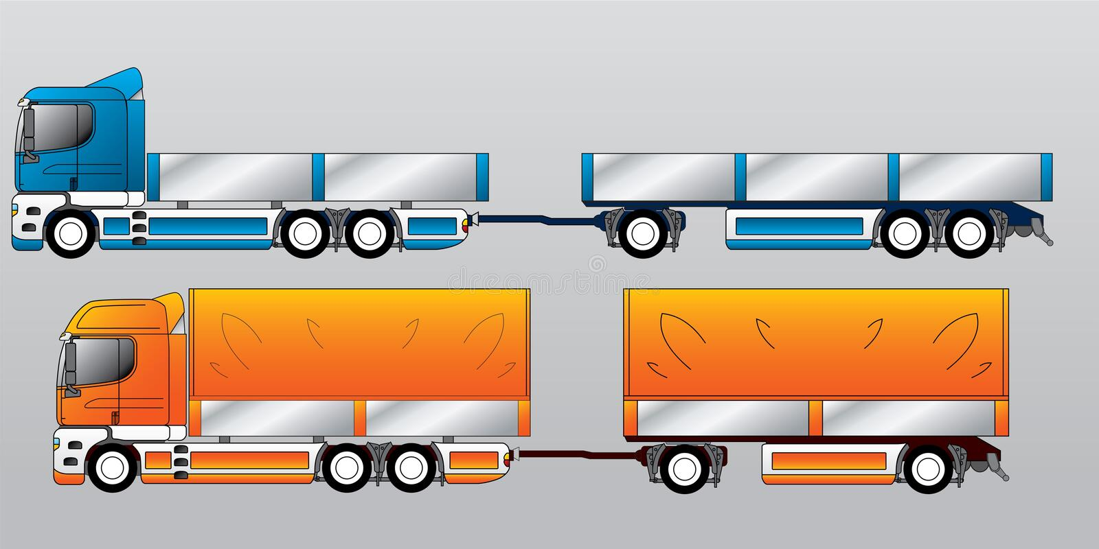 Truck with trailer royalty free illustration