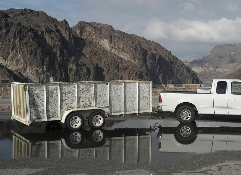 Download Truck and Trailer stock photo. Image of skies, wheel, strong - 82544