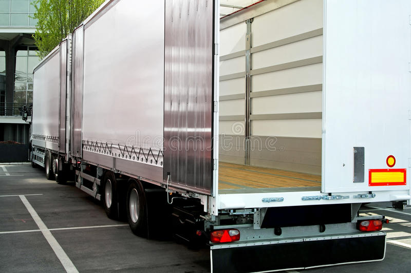 Truck and trailer royalty free stock image