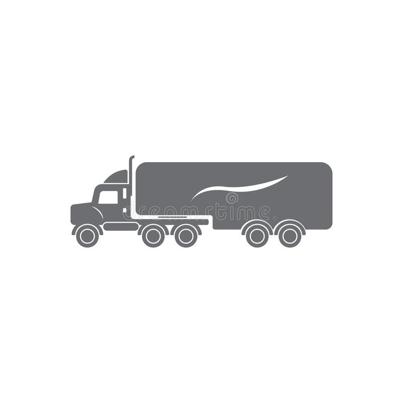 Truck with trailer icon. Simple element illustration. Truck with trailer symbol design from Transport collection set. Can be used. For web and mobile on white vector illustration