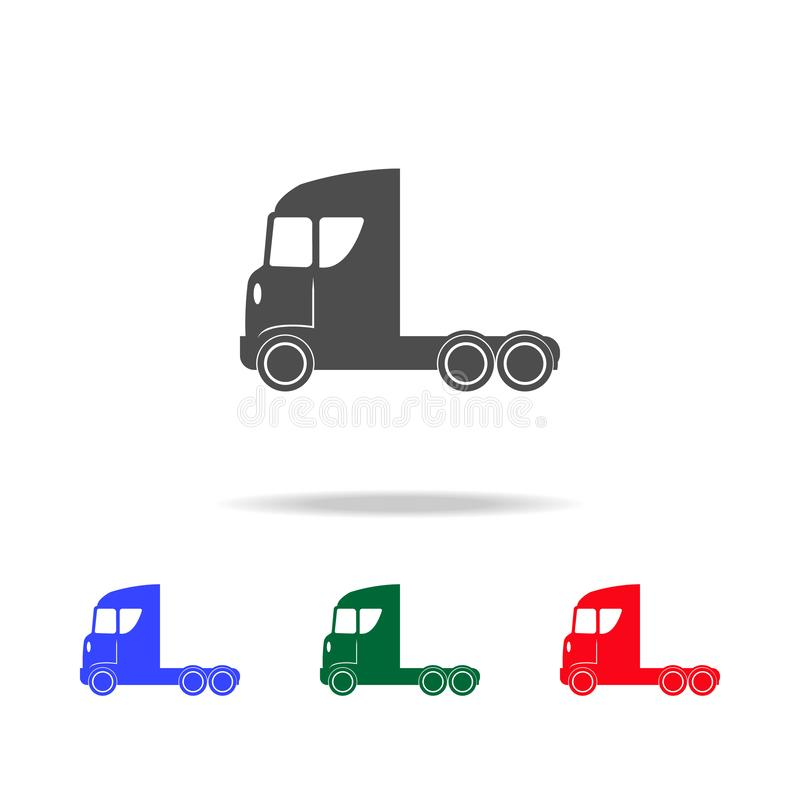 Truck without trailer icons. Elements of transport element in multi colored icons. Premium quality graphic design icon. Simple. Icon for websites, web design on royalty free illustration