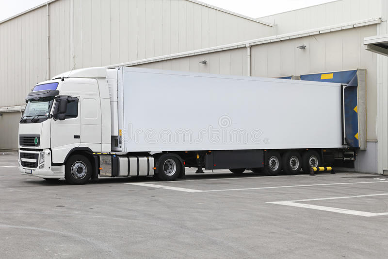 Download Truck and trailer stock image. Image of storage, transport - 33230049