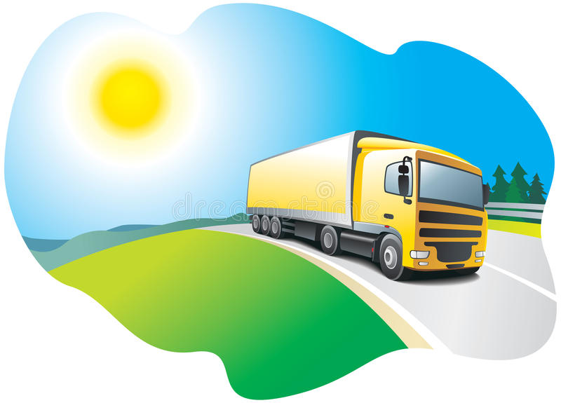 Download Truck - Transport And Logistics Stock Vector - Image: 15651311
