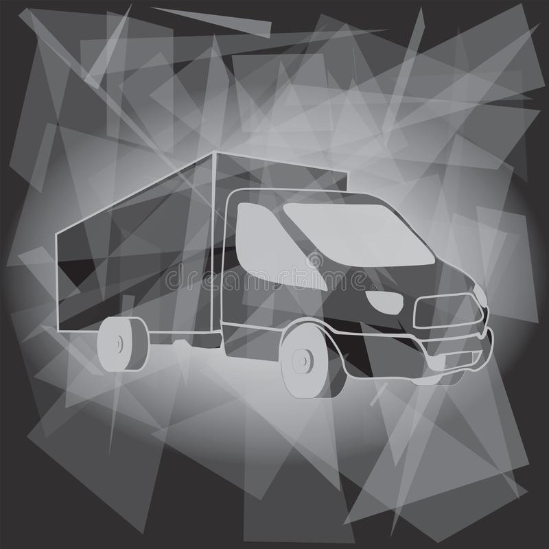 Truck Transport Logo Template royalty free illustration