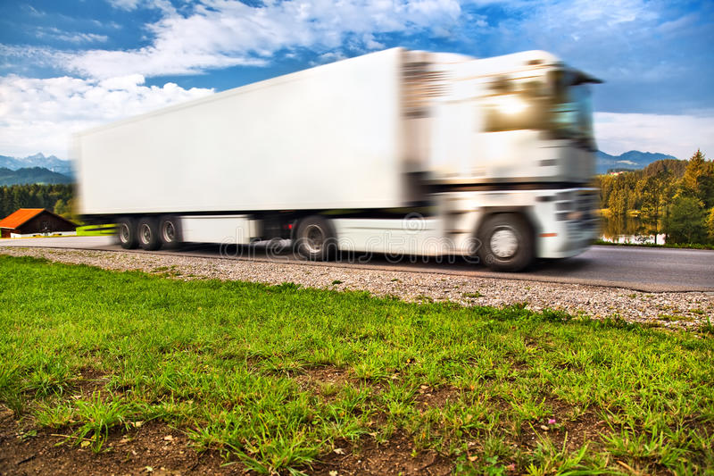 Truck Transportation Stock Photo