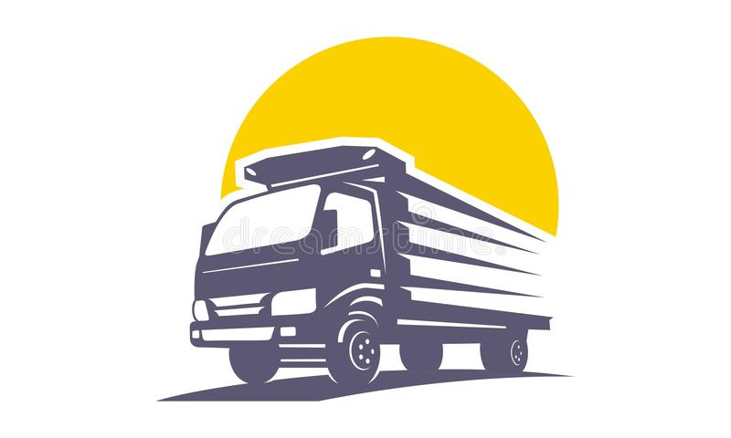 Truck transportation logo unique vector illustration