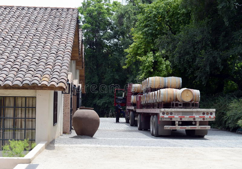Download Truck For Transportation Of The Wine At The Winery Santa Rita. Stock Image - Image: 83709331