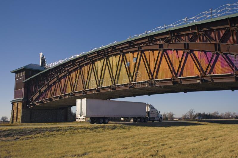 Truck under Archway in Nebraska stock image