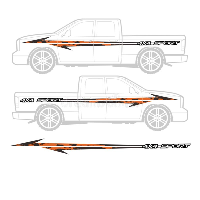 Truck and vehicle decal Graphic design vector illustration