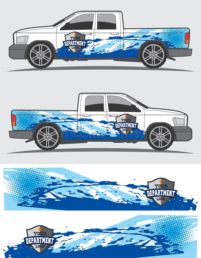 Truck and vehicle decal Graphic design stock images