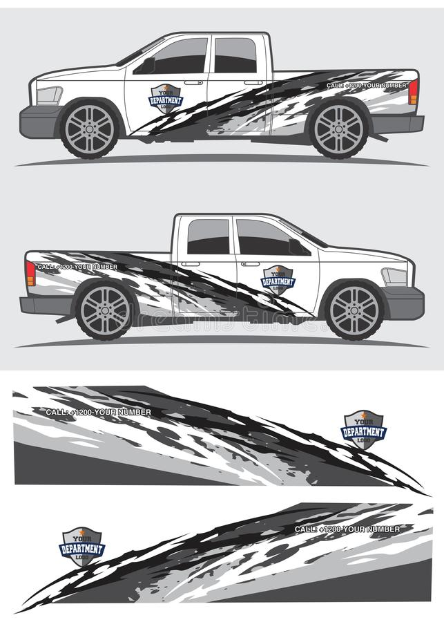 Truck and vehicle decal Graphic design royalty free illustration