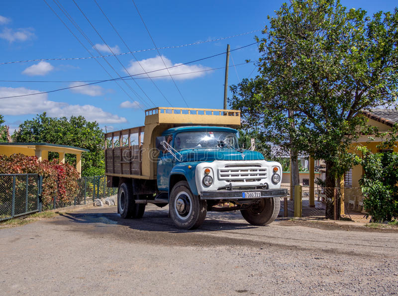 Truck in Vinales Cuba. Cattle Truck in Vinales Cuba stock images