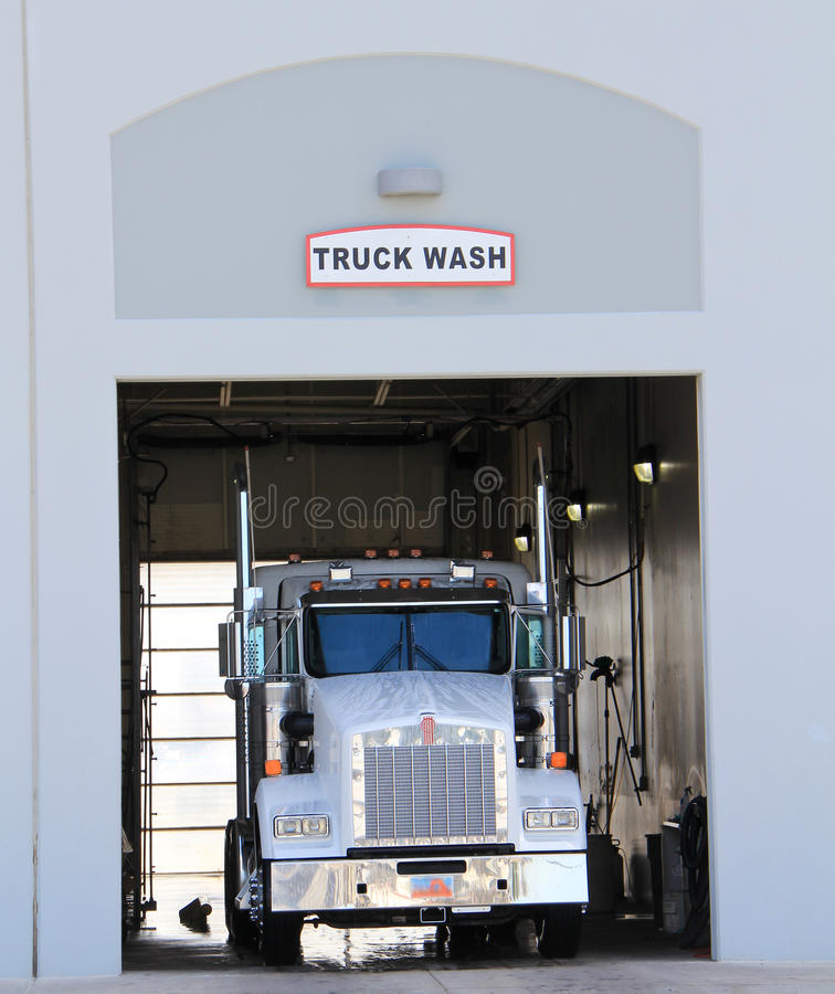 Download Truck Wash stock image. Image of white, shop, inside - 25499797