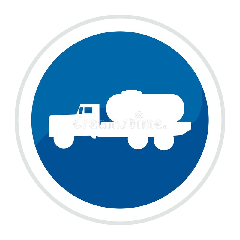 Truck web button royalty free illustration