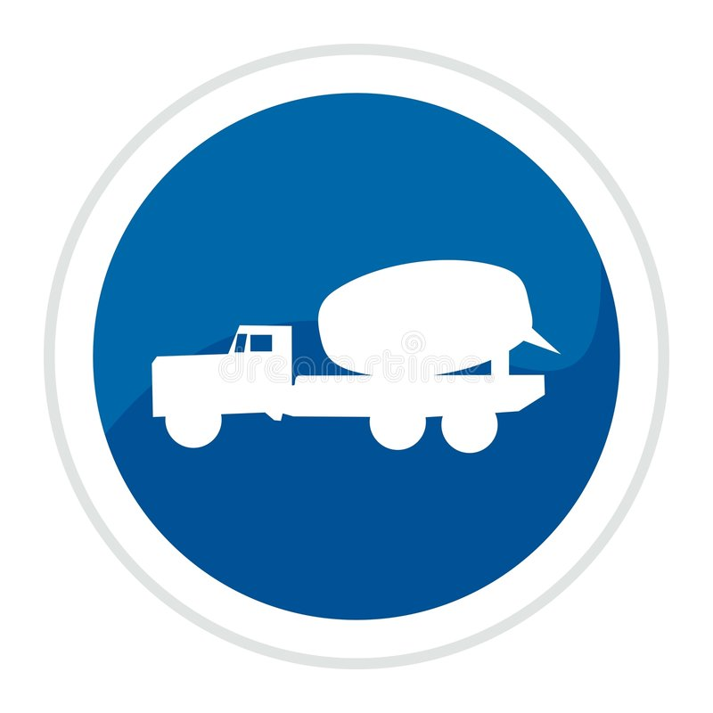 Truck web button vector illustration