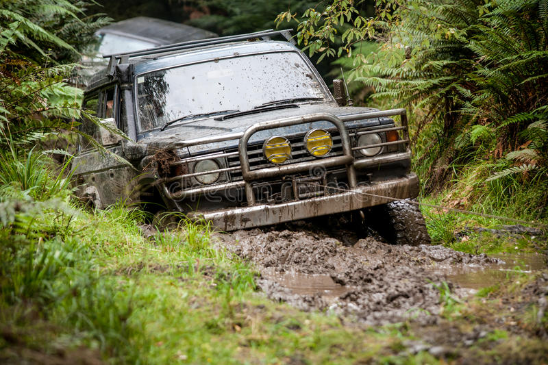 Truck winching royalty free stock images