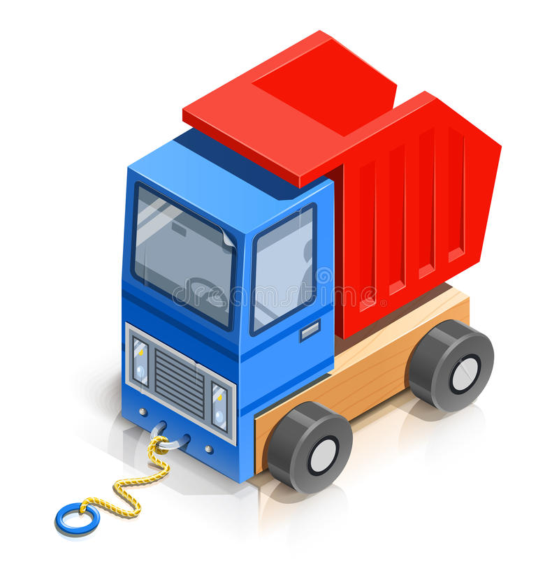 Download Truck. wooden toy stock vector. Image of load, transportation - 29785062