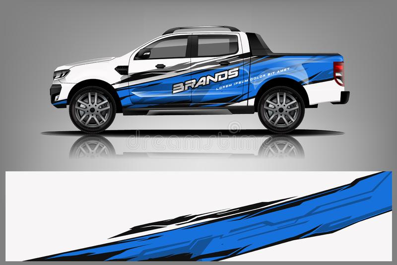 Truck Wrap design for company stock illustration