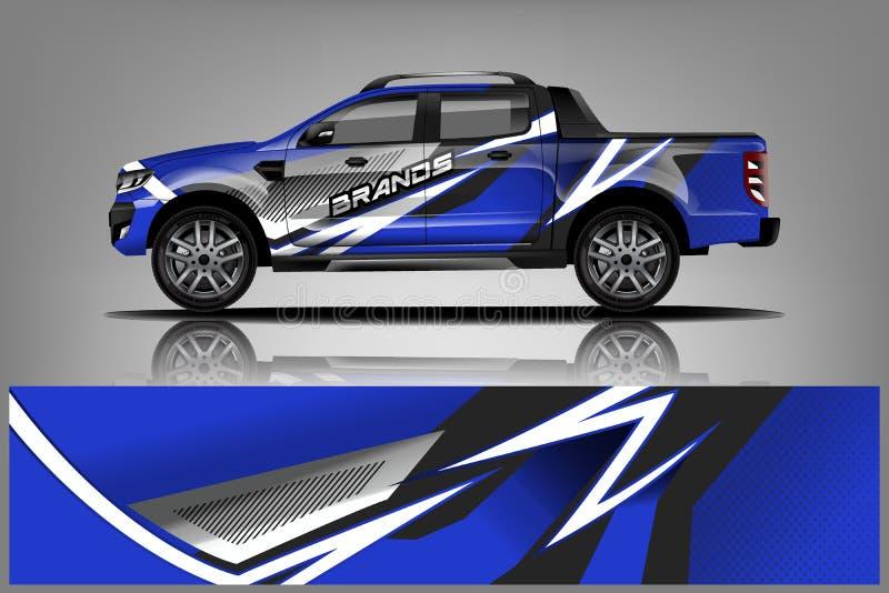 Truck Wrap Livery design. Ready print wrap design for Van. - Vector vector illustration