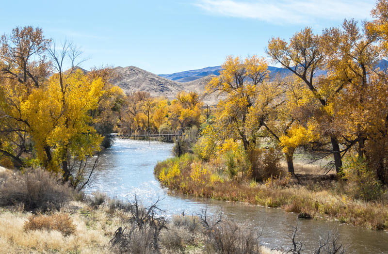 Truckee River Wadsworth, Nevada royaltyfri fotografi