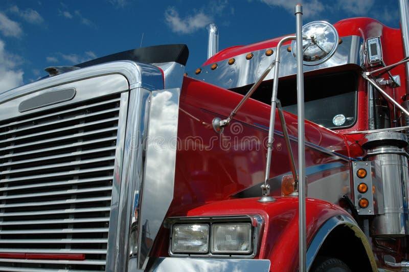 Truckers cab stock image