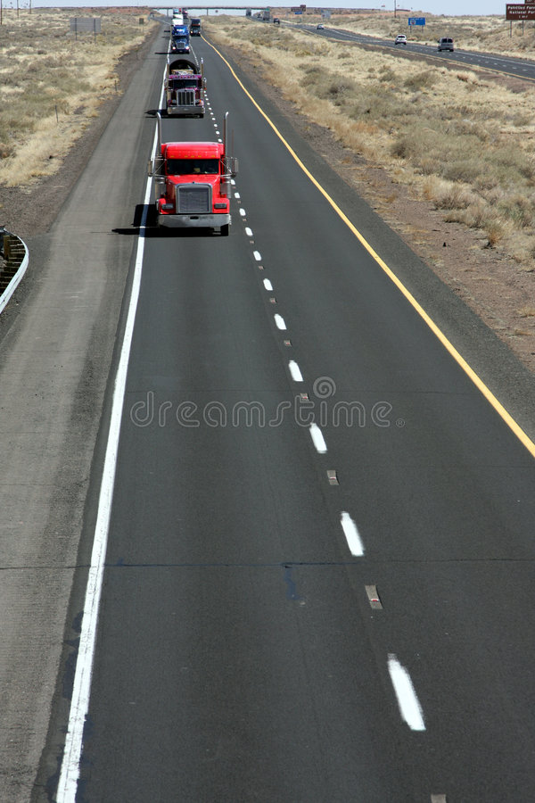 Truckers route royalty free stock photography